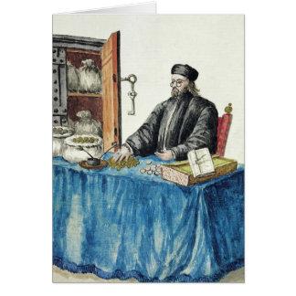 Prestamista veneciano, de un libro ilustrado tarjeta de felicitación