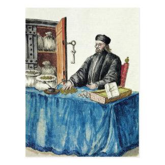 Prestamista veneciano, de un libro ilustrado tarjeta postal