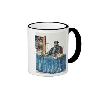 Prestamista veneciano, de un libro ilustrado tazas de café