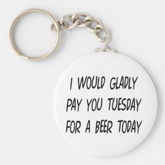 Préstamo de la cerveza llavero personalizado