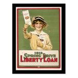 Préstamo de la libertad de la impulsión de 1918 pr postales