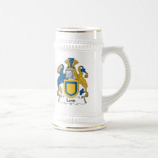 Preste el escudo de la familia jarra de cerveza