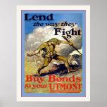 Preste la manera que luchan la guerra mundial del  poster