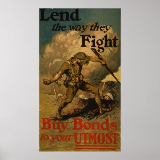 Preste la manera que luchan posters