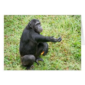 ¡Preste un chimpancé una mano! Tarjeta Pequeña