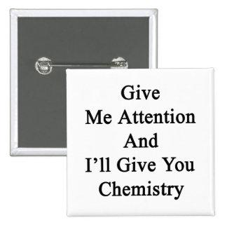 Présteme atención y le daré química chapa cuadrada 5 cm
