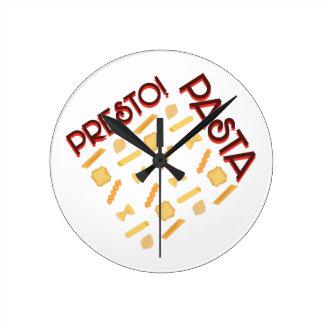 Presto Pasta Round Clock