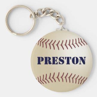 Preston Baseball Keychain by 369MyName