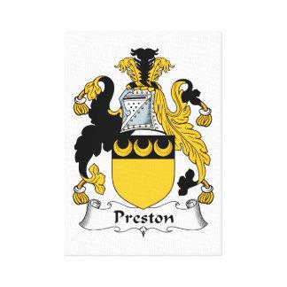 Preston Family Crest Gallery Wrap Canvas