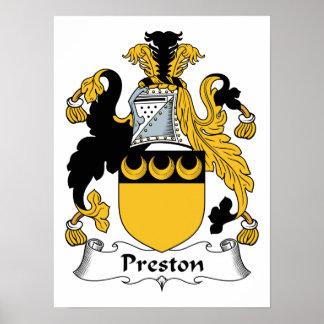 Preston Family Crest Poster