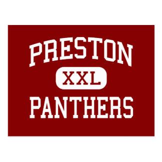 Preston - Panthers - High School - Bronx New York Postcard