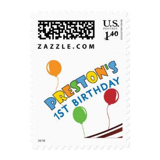 Preston s 1st Birthday Postage