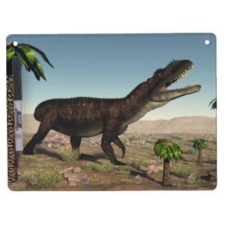 Prestosuchus dinosaur - 3D render Dry Erase Board With Keychain Holder