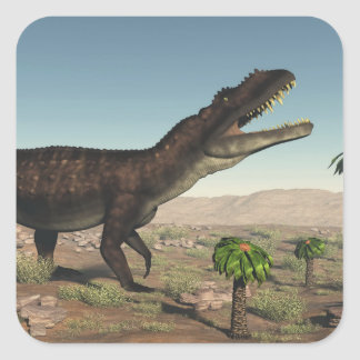 Prestosuchus dinosaur - 3D render Square Sticker