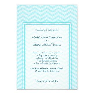 """Presupuesto azul del personalizado del boda de la invitación 5"""" x 7"""""""