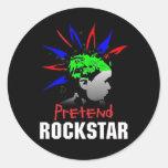 Pretend Rockstar Sticker