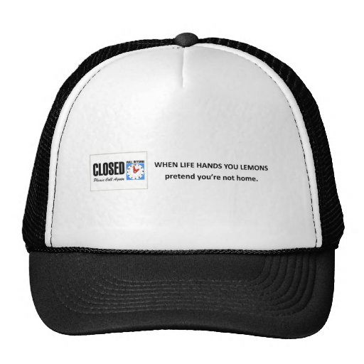 pretend-youre-not-home mesh hat