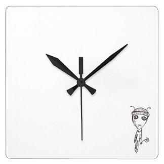 Pretendiente extranjero reloj cuadrado