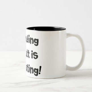 Pretending to Adult is Exhausting! Two-Tone Coffee Mug