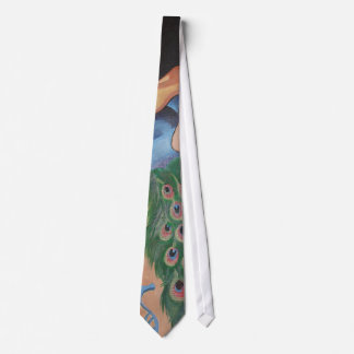 Pretending To Be A Peacock Neck Tie