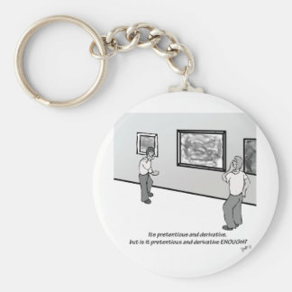 Pretentious and Derivative Keychain