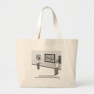 Pretentious and Derivative Large Tote Bag