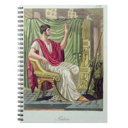 "Pretor, no. 38 de ""Roma antigua"", grabada por L Libreta Espiral"