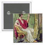 "Pretor, no. 38 de ""Roma antigua"", grabada por L Pin Cuadrado"
