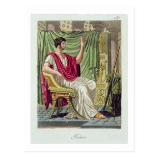 "Pretor, no. 38 de ""Roma antigua"", grabada por L Postales"