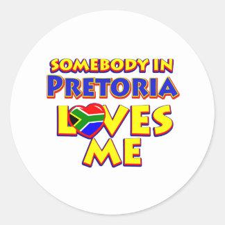 Pretoria City Designs Classic Round Sticker