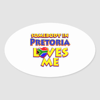 Pretoria City Designs Oval Sticker