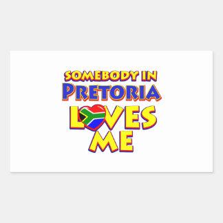 Pretoria City Designs Rectangular Sticker