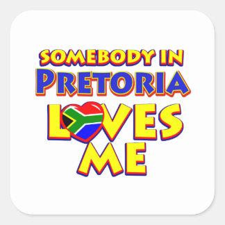 Pretoria City Designs Square Sticker