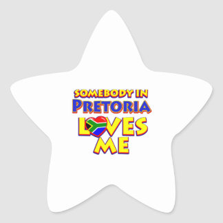 Pretoria City Designs Star Sticker