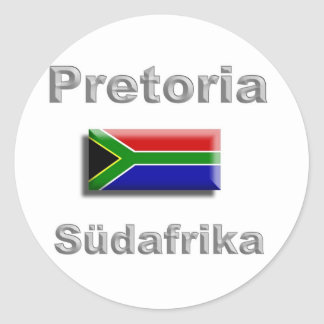 Pretoria Classic Round Sticker