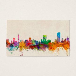 Pretoria South Africa Skyline Cityscape Business Card