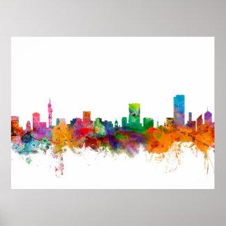 Pretoria South Africa Skyline Poster