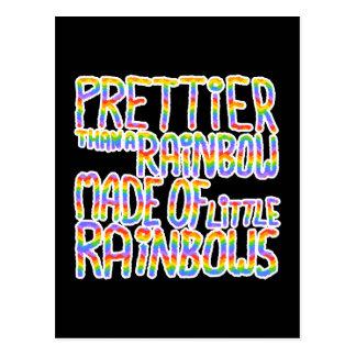 Prettier Than A Rainbow Made Of Little Rainbows. Postcard