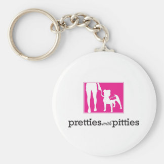 Pretties with Pitties Key Chain