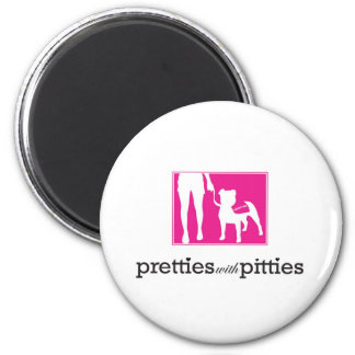 Pretties with Pitties Fridge Magnets