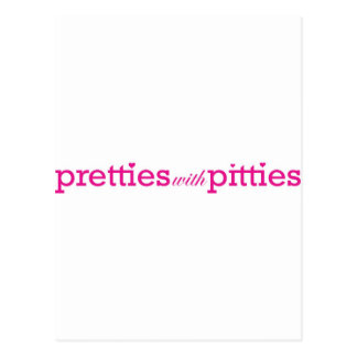 Pretties with Pitties Postcard