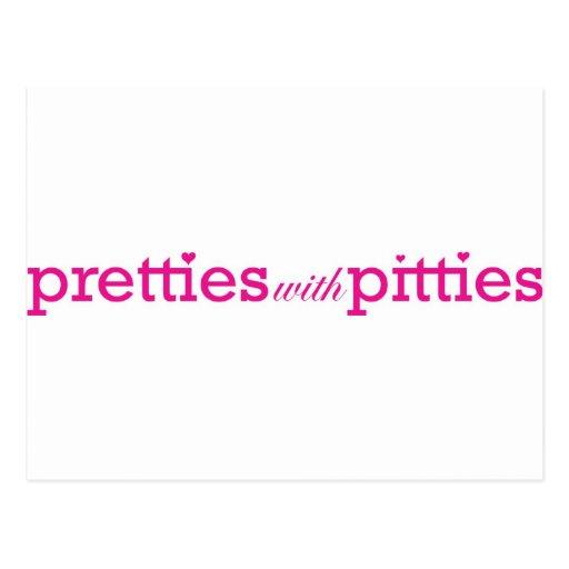 Pretties with Pitties Postcard
