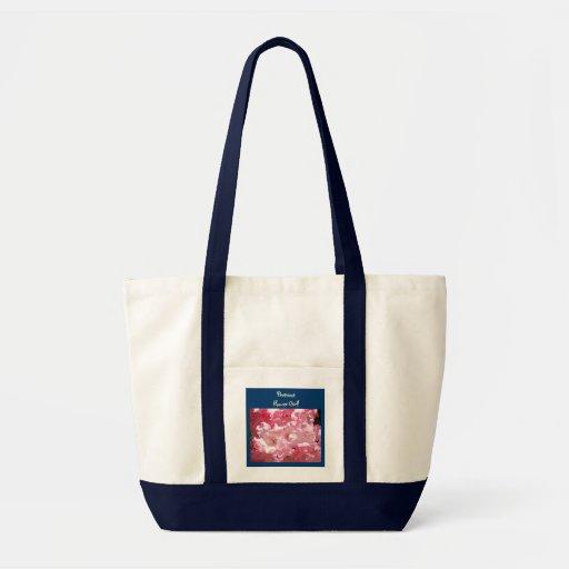 Prettiest Flower Girl! tote bag gift Pink Rhodies