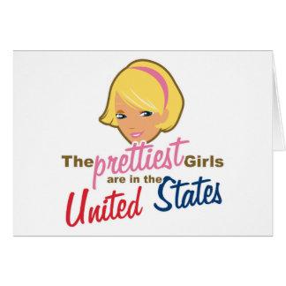 Prettiest Girls USA Card