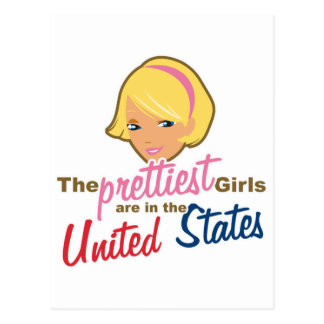Prettiest Girls USA Postcard