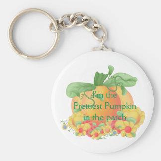Prettiest Pumpkin Basic Round Button Keychain
