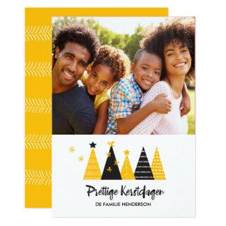 Prettige Kerstdagen Black Gold Trees Card