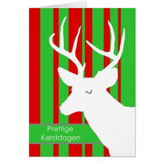 Prettige Kerstdagen, Christmas in Dutch, Deer Card