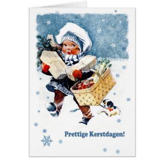 Prettige Kerstdagen. Dutch Christmas Card