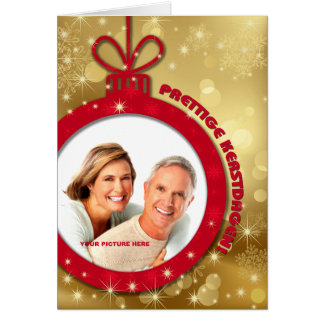 Prettige Kerstdagen. Dutch Custom Photo Cards